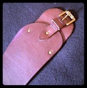 Banana Republic wide brown leather belt Med